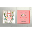 floral roses wreath save date wedding vector image