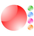glossy shining spheres trendy abstract buttons vector image