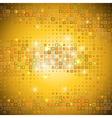 Gold mosaic vector image vector image