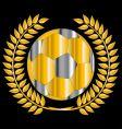 golden soccer ball vector image vector image