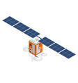 gps satellite flat isometric vector image vector image