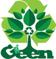 green1 vector image vector image