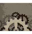 grunge cogwheel background vector image