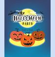 halloween day celebration concept pumpkin horror vector image vector image