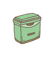 hand drawn frige container sketch colored vector image