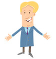 happy boss businessman cartoon character vector image vector image