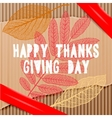 Happy thanksgiving day autumn holiday background vector image vector image