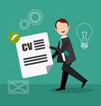 Job digital design vector image