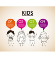 kids design vector image