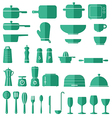 Kitchen Icon Set Graphics vector image
