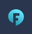 Letter F speech bubble logo icon design template vector image vector image