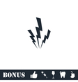 Lightning icon flat vector image vector image