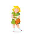 little girl with handbag flat vector image