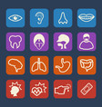 medical and hospital icons set flat design set vector image vector image