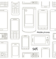 Mobile phones set pattern vector image vector image