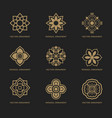 mongolian traditional art pattern vector image