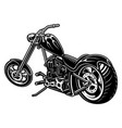 motorcycle chopper on white bakcground vector image vector image