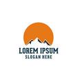mountain logo design vector image vector image