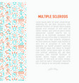 multiple sclerosis concept with thin line icons vector image