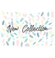 New collection fashion header confetti