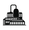 Oil refinery or chemical plant icon vector image vector image