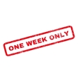 One Week Only Rubber Stamp vector image vector image