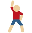 person stretching pictogram icon vector image vector image