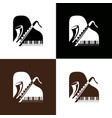 piano and saxophone logo vector image vector image