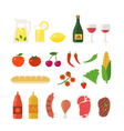 Picnic elements set vector image vector image