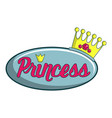princess show icon cartoon style vector image vector image