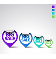 round sale labels vector image vector image
