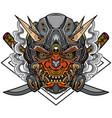 samurai robot vector image vector image