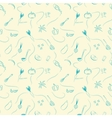 Seamless doodle style pattern with cooking vector image