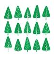 set christmas tree vector image vector image