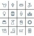 set of 16 agriculture icons includes growing vector image vector image