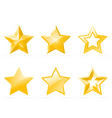 set of shiny star icons vector image vector image