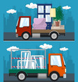 set of transportation services and logistics vector image vector image