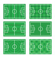 soccer european football field in top view vector image vector image