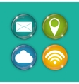 Social media and networking icons set vector image vector image