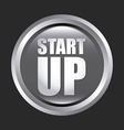 start up design vector image