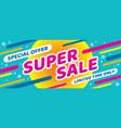super sale discount - layout concept illust vector image