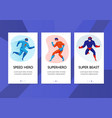 superhero vertical banners vector image vector image