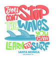 surf lettering poster surfing related t-shirt vector image vector image