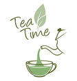 Tea time resize vector image vector image