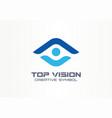 top vision man eye creative symbol concept vector image vector image