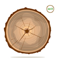 Tree-rings vector image vector image