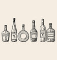 vintage hand drawn sketch style alcohol vector image vector image