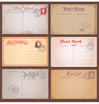 Vintage Style Postcards vector image vector image