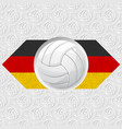 volleyball germany background vector image vector image