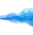 watercolor transparent wave blue colored vector image vector image